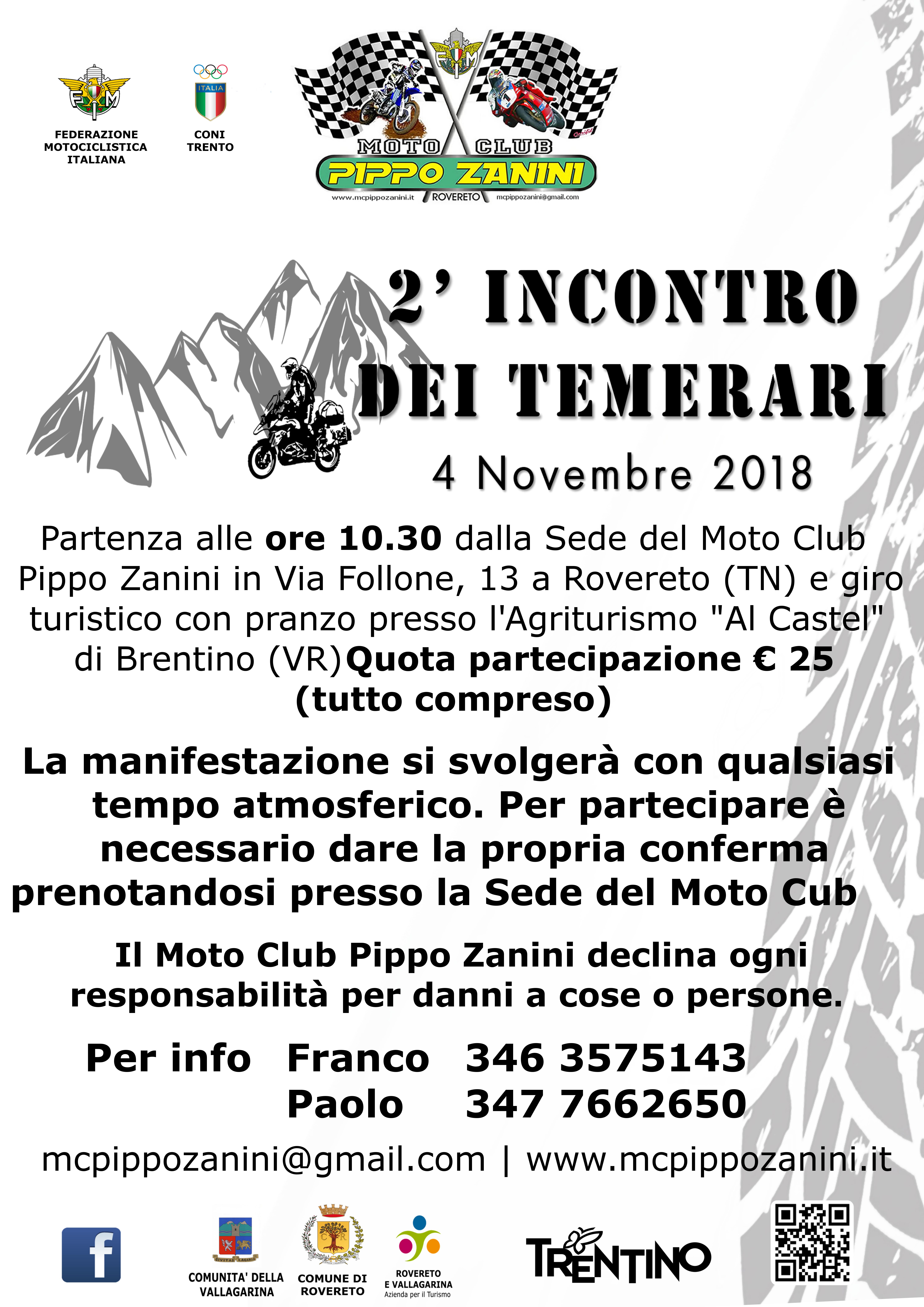07. Locandina 04 Novembre 2018 - 2 raduno dei Temerari
