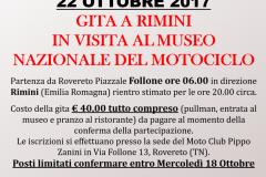 08. Locandina 22 Ottobre 2017 - Gita al Museo Nazionale del Motocilclo - Rimini