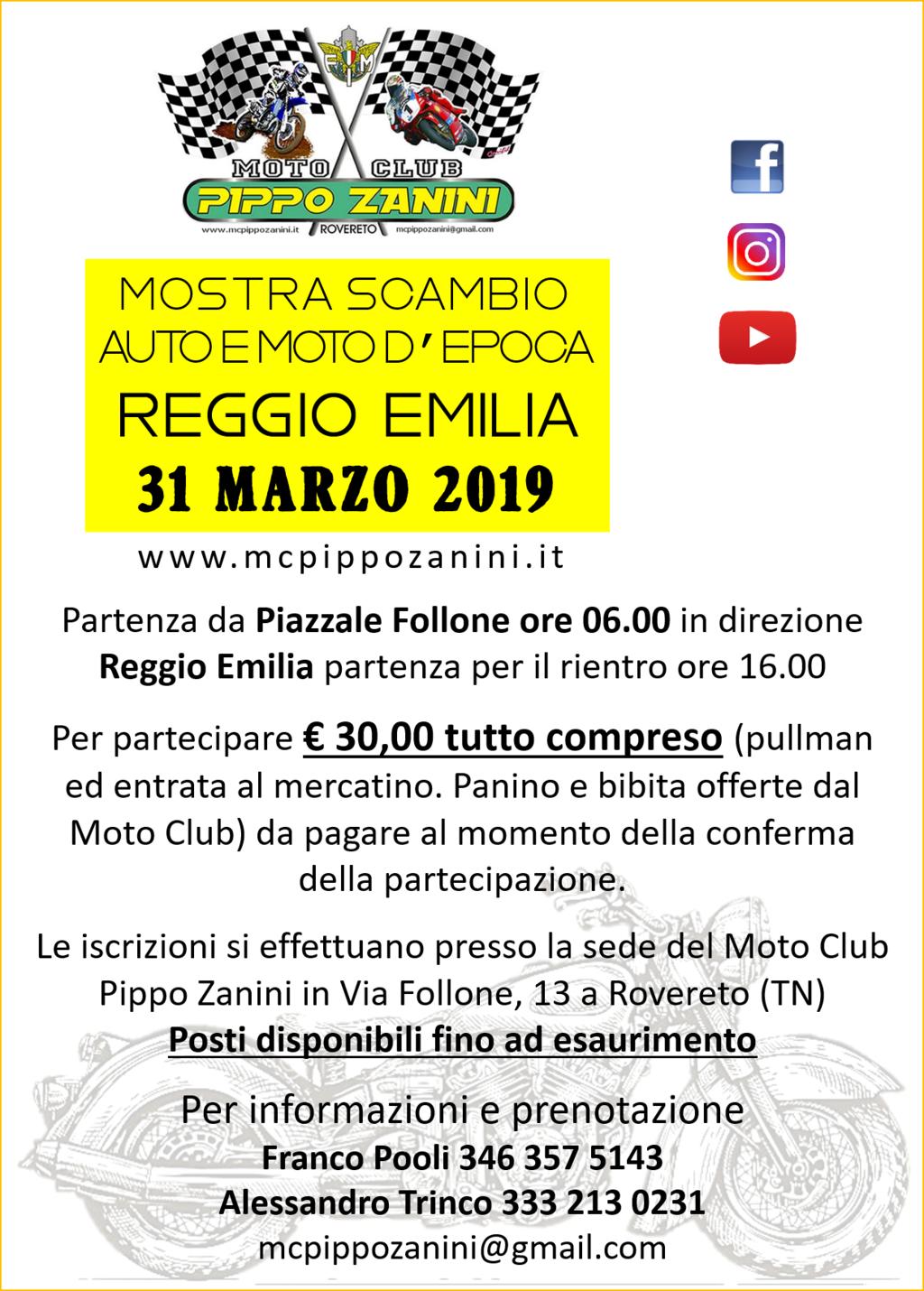 02. Locandina 31 Marzo 2019 - Mostra Scambio Auto e Moto dEpoca Reggio Emilia