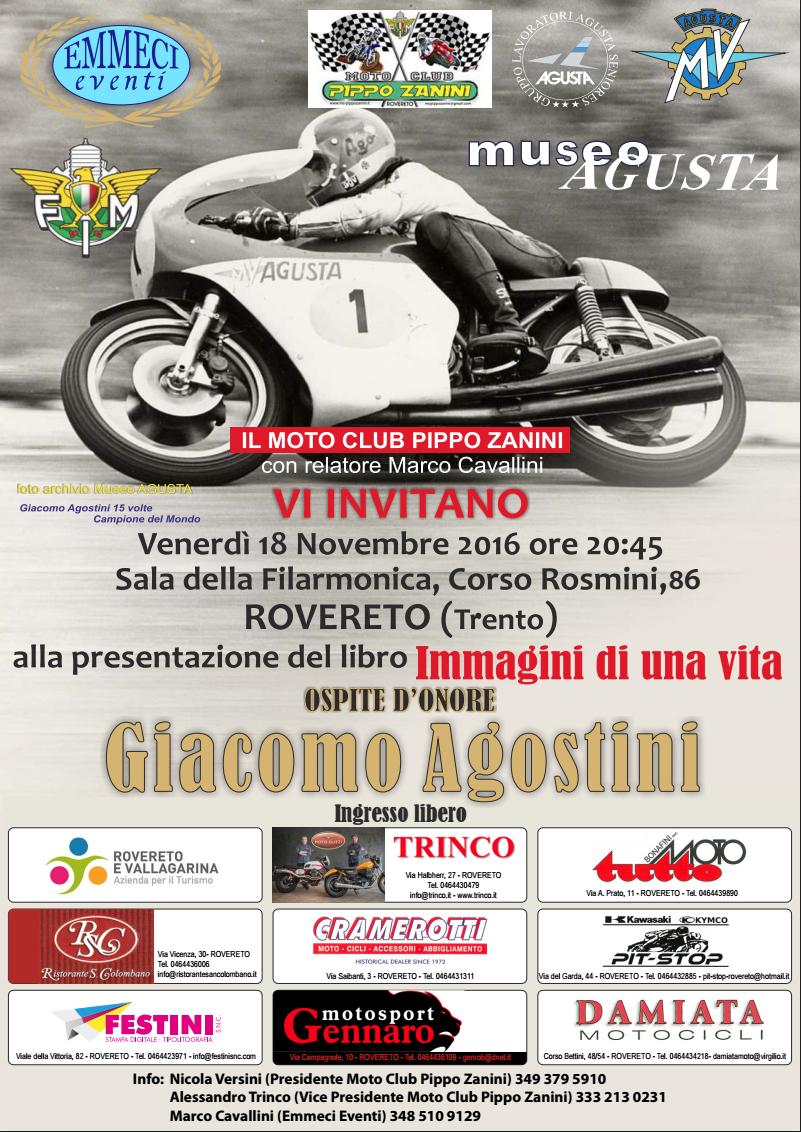 Giacomo Agostini ospite del Moto Club Pippo Zanini