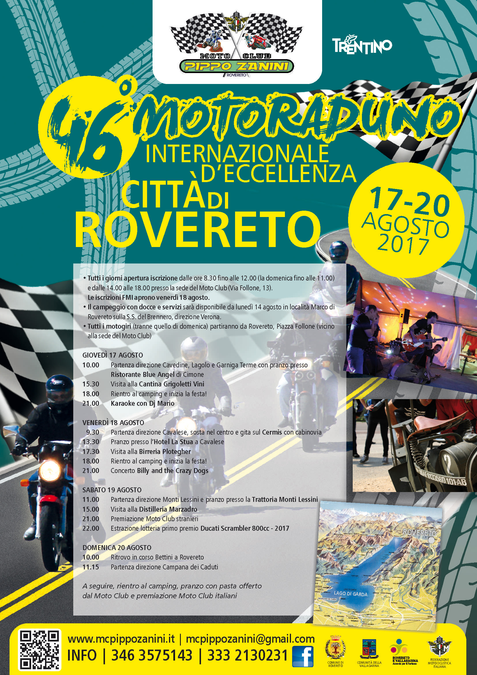 Programma del 46° Motoraduno Città di Rovereto