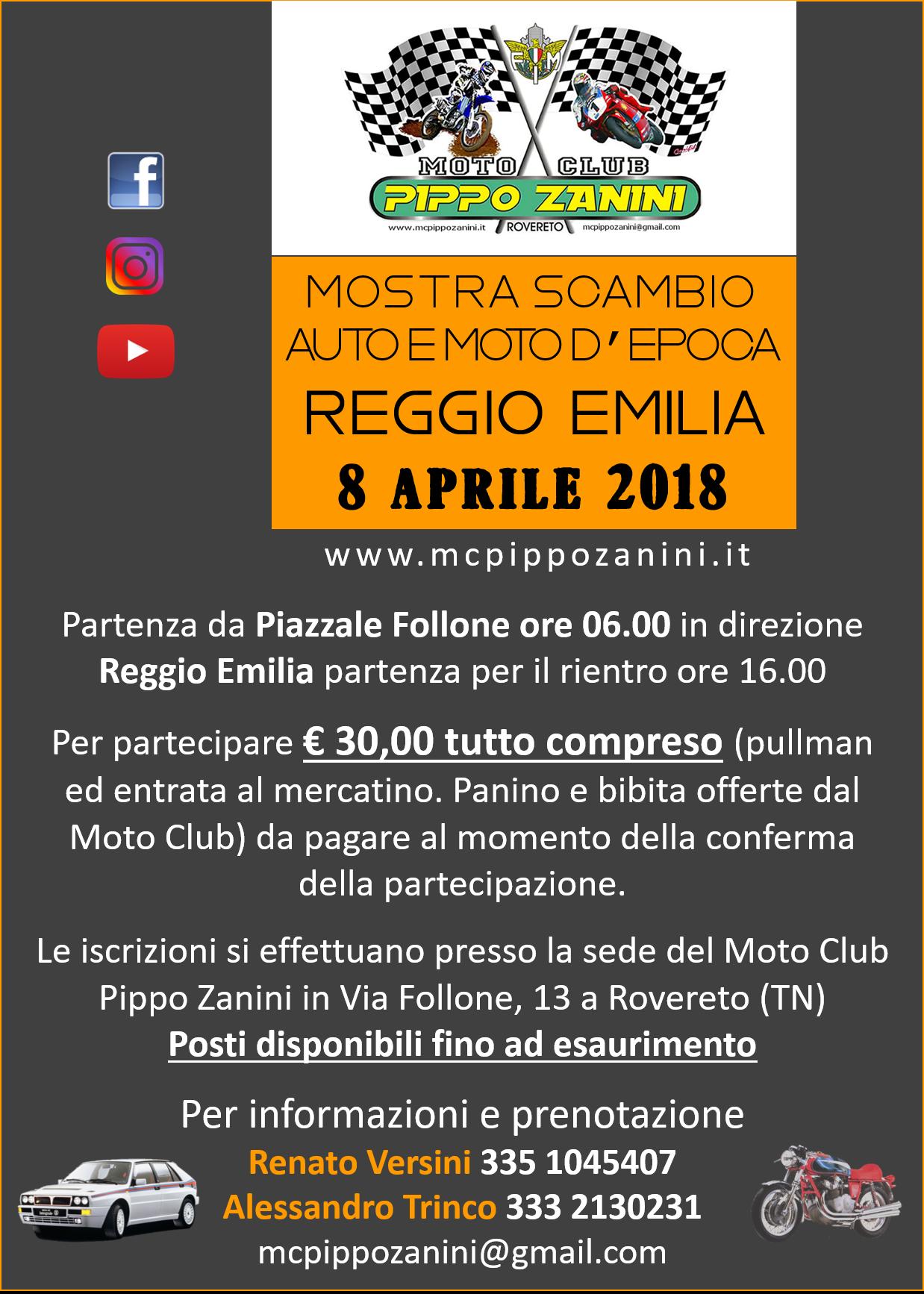 Mostra Scambio auto e moto d'Epoca a Reggio Emilia