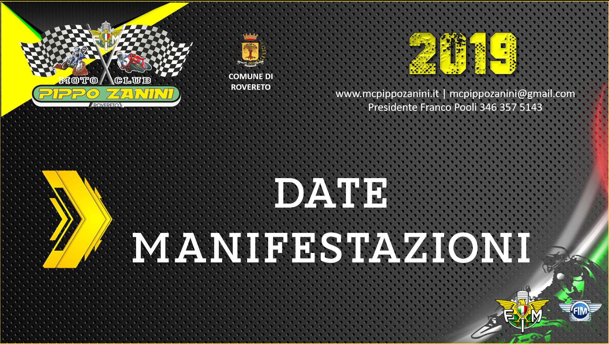 Date Manifestazioni 2019