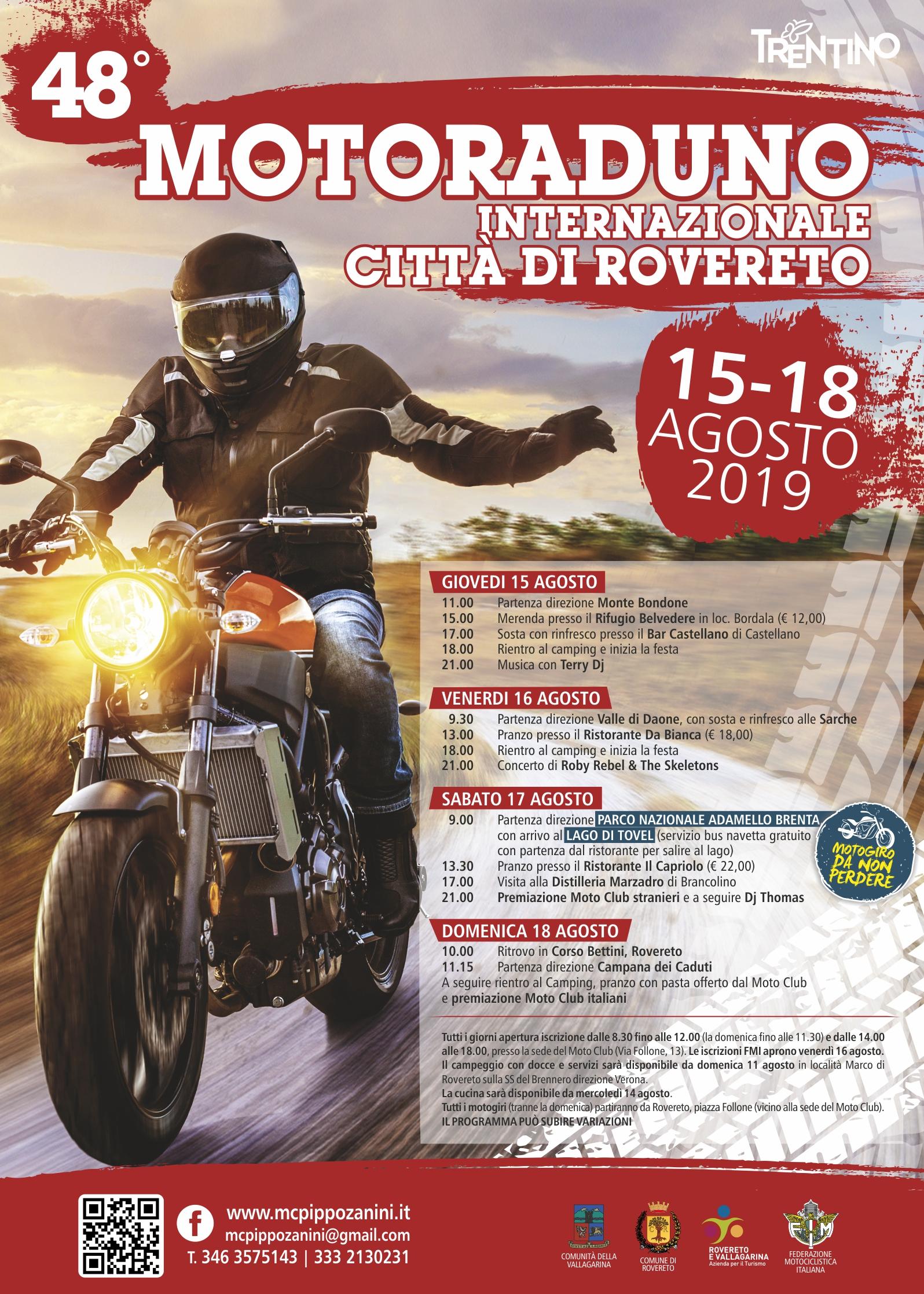 48° Motoraduno Internazionale Città di Rovereto | Il Programma